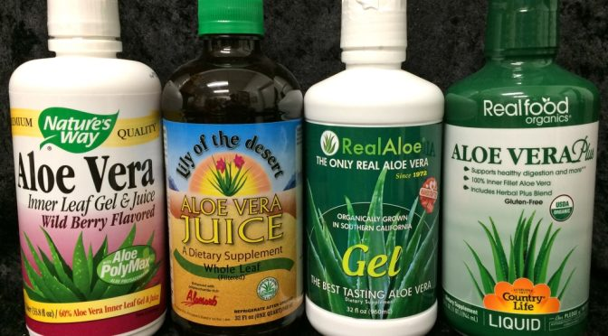 We have a wide range of juices containing aloe.