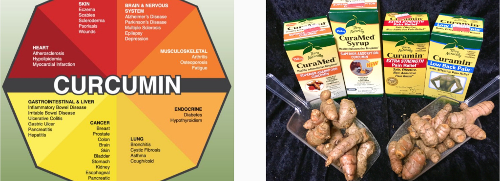 "(Above: There are many amazing health benefits from taking curcumin, an extract of the turmeric plant. For this, we recommend ""Curamin"" brand curcumin that also blends in turmeric essential oil to increase absorption.)"